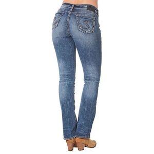 Silver Suki Slim Boot Cut Distressed Jeans 26